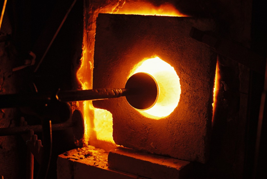 glass works, production, Jozefina, glass, furnace, molten glass, hnadmade, mouth blown